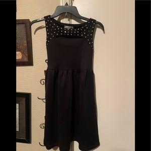 Cute pearl and rhinestone studded dress